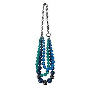 Coldwater Creek Colorful 3 Strand Necklace